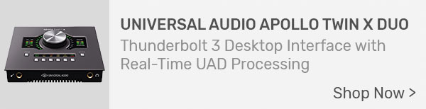 Universal Audio Apollo Twin X DUO Thunderbolt 3 Desktop Interface with Real-Time UAD Processing