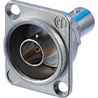 Neutrik NBB75DFG Grounded BNC Chassis Connector (Nickel)