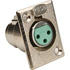 Switchcraft D3F Female 3-Pin XLR Panel Mount Connector (Nickel/Silver)