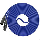 Performance Audio Professional Mogami W2534 XLR-XLR Microphone Cable (50', Blue)