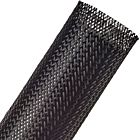"Techflex Flexo PET Expandable Braided Sleeving (2"" Black, By the Foot)"
