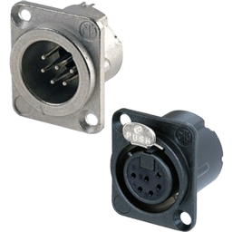 6-Pin XLR Chassis / Panel Mount Connectors