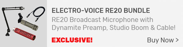 Electro-Voice RE20 Broadcast Announcer Microphone Broadcasting Bundle
