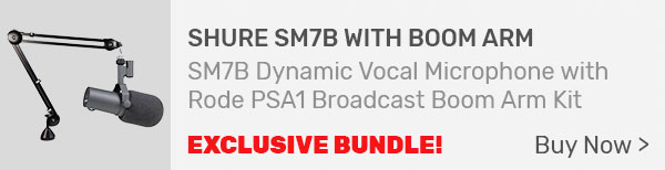 Shure SM7B Dynamic Vocal Microphone and Broadcast Boom Arm Kit