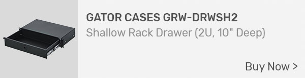 Gator Cases GRW-DRWSH2 Shallow Rack Drawer