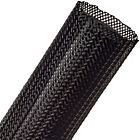 """Techflex Flexo PET Expandable Braided Sleeving (1-3/4"""" Black, By the Foot)"""