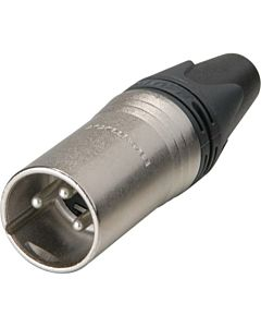 Neutrik NC3MXX Male 3-Pin XLR Connector (Nickel/Silver)
