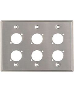Horizon Pro Co WPU3002 Triple Gang 6-Hole Wallplate