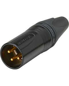 Neutrik NC3MXX-B Male 3-Pin XLR Connector (Black/Gold)