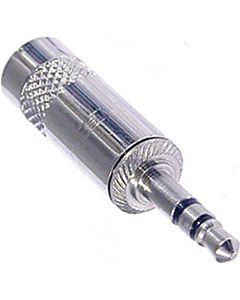 Neutrik Rean NYS231 3.5mm Stereo Phone Plug (Nickel/Silver)