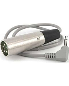 Lectrosonics MC100XLR Output Cable, 3.5mm Mono Mini-Phone to XLR (Unbalanced) for UCR100