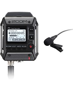 Zoom F1-LP Portable Field Recorder with Lavalier Microphone