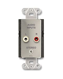 Radio Design Labs DS-CIJ3 Consumer Input Jacks - Mono (Stainless Steel)