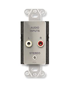 Radio Design Labs DS-CIJ3D Consumer Input Jacks - Stereo (Stainless Steel)