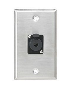 Atlas Sound SG-QTRSL-F1 - 1 Gang Stainless Plate w Female Locking TRS Connector