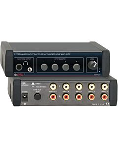 Radio Design Labs EZ-HSX4 Stereo Audio Input Switcher with Headphone Amp (North American Power Suppl