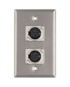 Horizon Pro Co WP1043 Dual Latchless Female XLR Wallplate