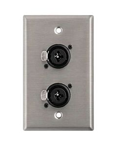 Horizon Pro Co WP1063 Dual Combo XLR/TRS Connector Wallplate