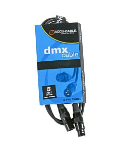 American DJ AC3PDMX5 3-Pin DMX Cable (5 ft.)