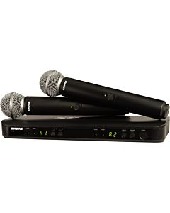 Shure BLX288 Dual-Channel Handheld Wireless System with 2 SM58 Handheld Mics (H10, 542-572 MHz)