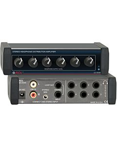 Radio Design Labs EZ-HDA6X Stereo Headphone Distribution Amp (Worldwide Power Supply)
