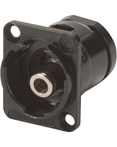 Switchcraft EHRCA2BX RCA Feed-Thru Jack (Black)