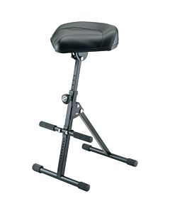 K&M Stands 14047 Stool (Black Leather)