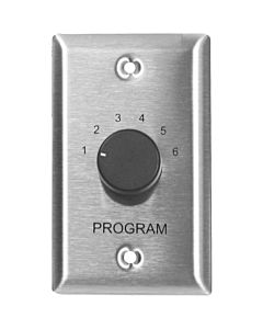 Lowell CS6-SS Program Selector Switch (Stainless Steel)
