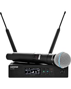 Shure QLXD24/B58 Handheld Wireless System (H50, 534-598 MHz)