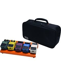 Gator Cases GPB-LAK-OR Small British Orange Pedal Board with Carry Bag