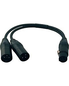 Performance Audio Professional XLR Y-Cable (XLRF to Dual XLRM)
