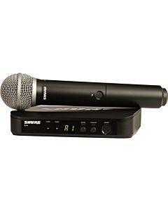 Shure BLX24/PG58 Handheld Wireless System with PG58 Mic (H9, 512-542 MHz)