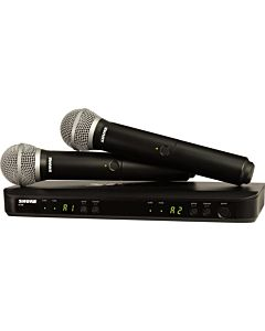 Shure BLX288 Dual-Channel Handheld Wireless System with 2 PG58 Handheld Mics (H10, 542-572 MHz)