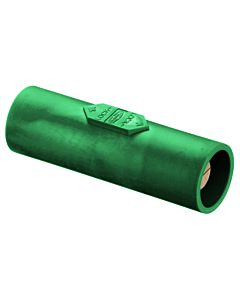 Hubbell Cam Lock Single Pole Male to Male Coupler (Green)