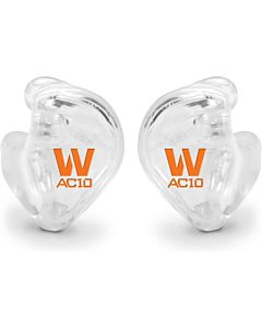 Westone AC10 Custom In Ear Monitors (Clear, Orange Logo)