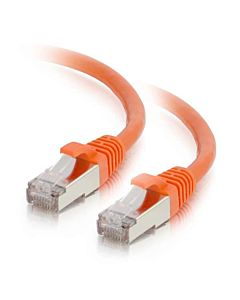 C2G Cat6 Snagless Shielded (STP) Ethernet Network Patch Cable - Orange (3')