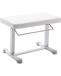 K&M Stands 14080 Uplift Piano Bench (White Leatherette)