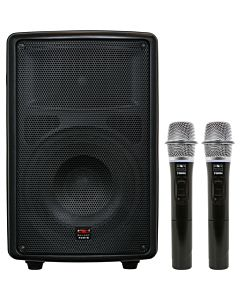"Galaxy Audio TQ8-24HHN Traveler Quest 8"" Speaker with 2 Wireless Handheld Microphones"