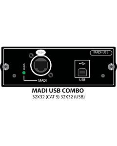 Soundcraft MADI USB Combo - Si to PC/MAC & Stagebox Option Card