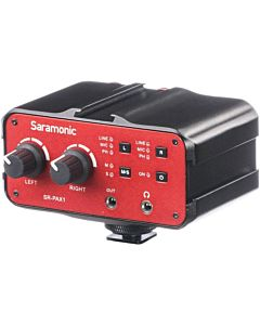 "Saramonic SR-PAX1 2-Channel XLR, 1/4"" (6.5mm) TRS & 1/8"" (3.5mm) On-Camera Audio Adapter & Mixer"