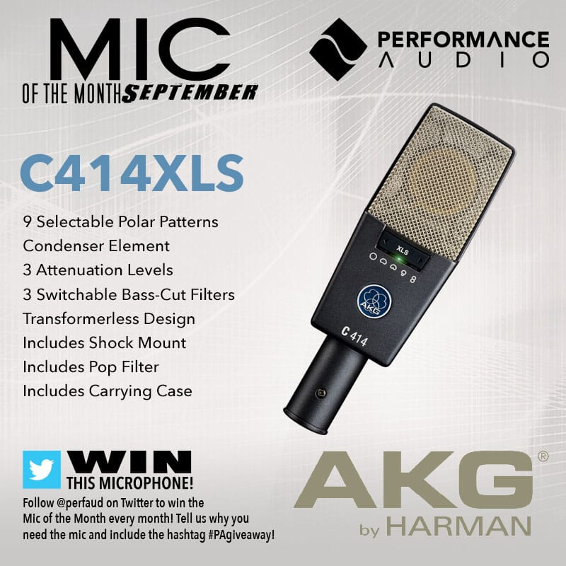 Mic of the Month - September 2017 - AKG C414XLS