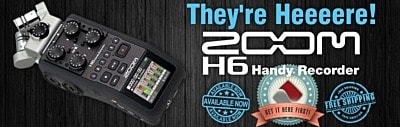 They're Heeeere! Zoom H6 Handy Recorders are in stock now!