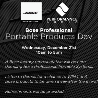 Bose Professional, Portable Products Day
