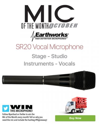 Mic of the Month - October 2017 - Earthworks SR20 Cardioid Condenser Microphone