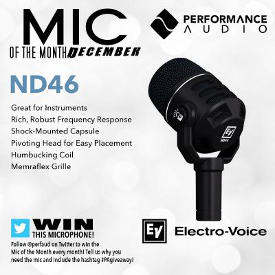 Mic of the Month - December 2017 - Electro-Voice ND46 Dynamic Instrument Microphone