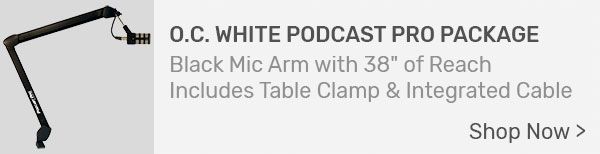 O.C. White Podcast Pro by Accu-Lite Mic Boom Package